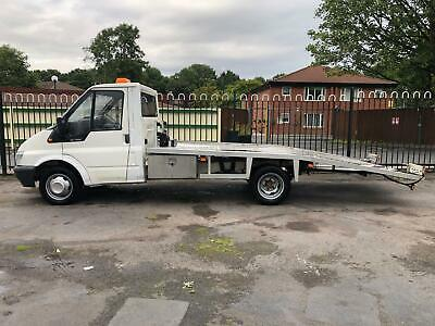 2005 Ford Transit Recovery Truck Flat Bed Tipper Van 2.4 Diesel White 3 Seats