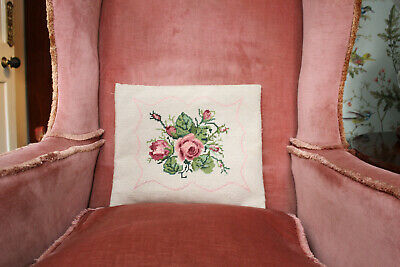 Beautiful Vintage Feather Filled Country House Tapestry Seat Pad / Cushion