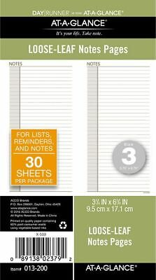 AT-A-GLANCE Planner Notes Pages Size 3 - Planner Note Pages
