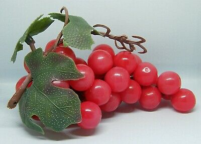 Fab Kitsch Vintage Plastic Grapes - Ideal Cafe/Restaurant Decor or Theatre Prop