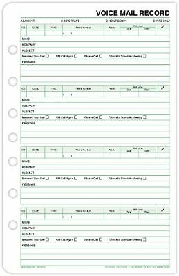 Voice Mail Record Sheets Desk Size - Planner Accessories