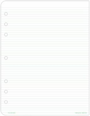 Lined Pages Folio Size - Planner Note Pages
