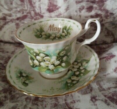 Royal Albert Tea Cup Saucer Flower Of The Month Series May Lily Of The  Valley
