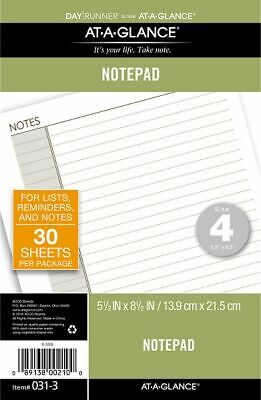 AT-A-GLANCE Lined Note Pad Size 4 - Planner Note Pages