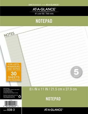 AT-A-GLANCE Lined Note Pad Size 5 - Planner Note Pages