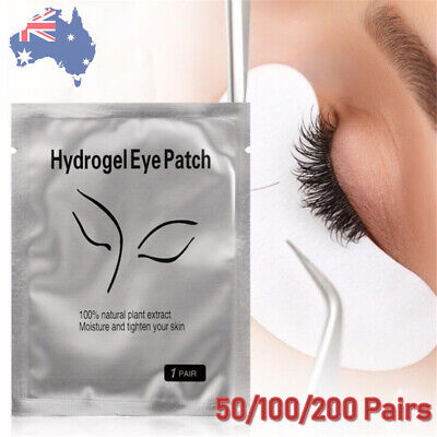 50/200 Pairs Under Eye Curve Lash Eyelash Pads Gel Patch Lint Extension Beauty