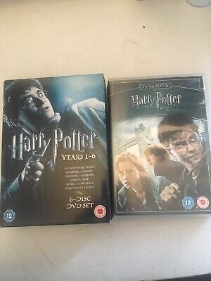 Harry Potter Complete DVD Box Set, All Movies And Years