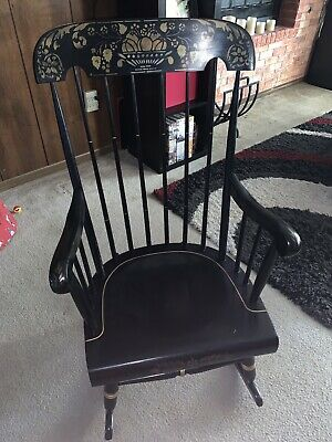 Nichols And Stone Co. Wooden Rocking Antique Chair