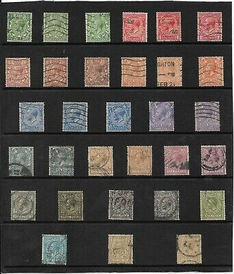 Gb. 1912-24 Royal Cypher Set (15) Used + Many Shades. Sg. 351-396. (641)