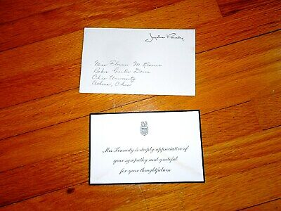 Original Jackie Kennedy Free Frank assasination sympathy card - sent from WH