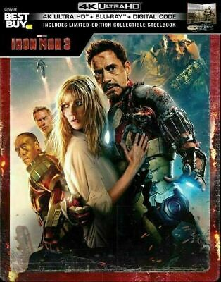 Iron Man 3  - Limited Edition Steelbook [4K UHD - Blu-ray] New!!
