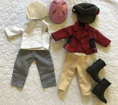 """Doll Clothes Lot Chef & Riding + Accessories American Girl Our Generation 18"""""""