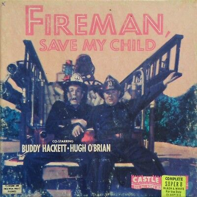 "*FIREMAN, SAVE MY CHILD* 1954 CASTLE FILMS SUPER 8MM 5"" B&W HOME MOVIE No.1029"
