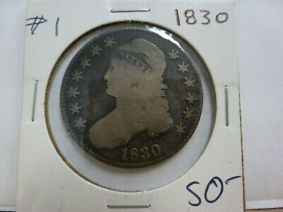 1830 Capped Bust Silver Half Dollar #1