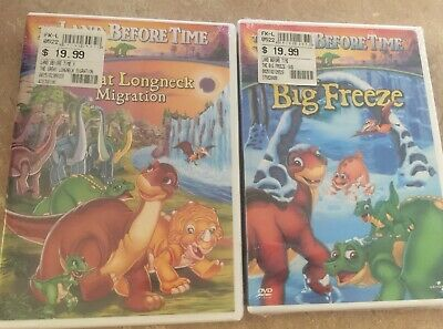 2 Pc Lot Dvd Land Before Time Sealed New