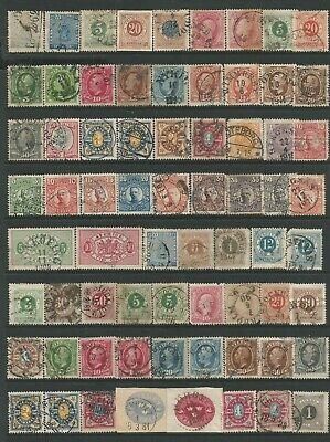 Sweden Small Useful Collection Of Fine Used Stamps From 1858