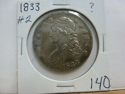 1833 Capped Bust Silver Half Dollar #2