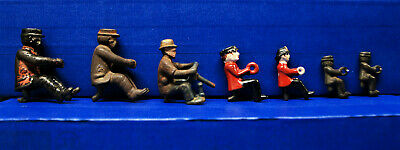 Antique Vintage Cast Iron Characters – Various: Kenton?, Dent?, Ives?, Hubley?,