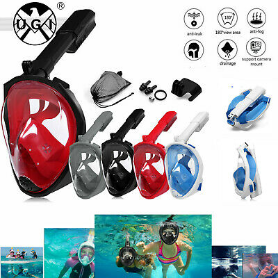 Anti-Fog Mask Full Face Diving Swimming Goggles Snorkel Scuba For GoPro lot #11