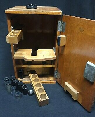 Vintage Carl Zeiss Jena Vintage Microscope Case w/Lenses and Lens Cases