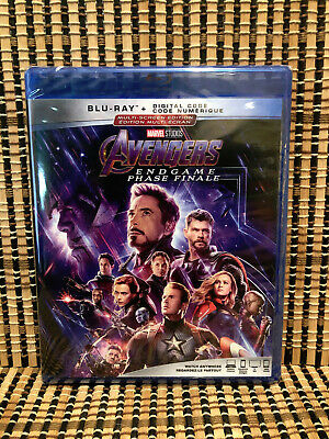 Avengers Endgame (2-Disc Blu-ray, 2019)Marvel.Captain America/Thor/Iron Man/Hulk