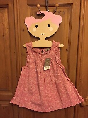BNWT!! NEXT Girl's Pink Heart Sparkle Tunic Vest Top ~ Age 3 Years Summer
