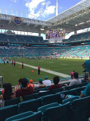 Miami Dolphins vs Jaguars SECOND ROW FROM THE FIELD!!! Premium Seats Row 2!!!