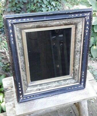 Antique Victorian Shadow Box Frame Eastlake 3 Tier Gilt Carved Hinged Latch
