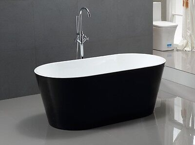 Bathroom Acrylic Free Standing Bath Tub Black 1700x800x580 Model Kiklo