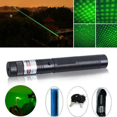 Green Laser Pointer 532nm Lazer Pen Visible Beam Light With 18650 Battery GL