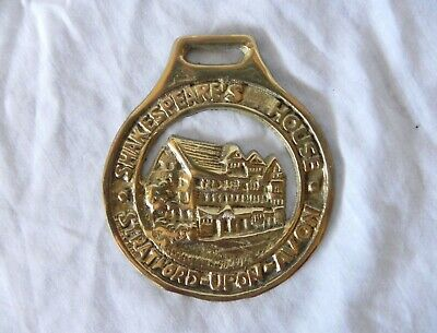 Vintage SHAKESPEARE'S HOUSE BRASS DOOR KNOCKER Stratford Upon Avon