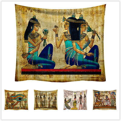 Ancient Egypt Egyptian Tapestry Wall Hanging Home Dorm Decor Bedspread Throw Art