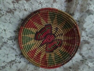 hand woven Indian Basket tray wall decor