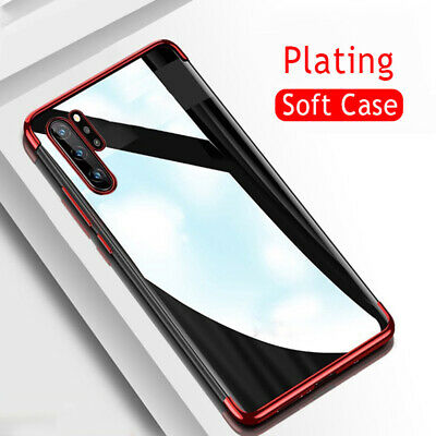 For Samsung Galaxy Note 10+ Plus Shockproof Plating Rubber Clear Slim Case Cover