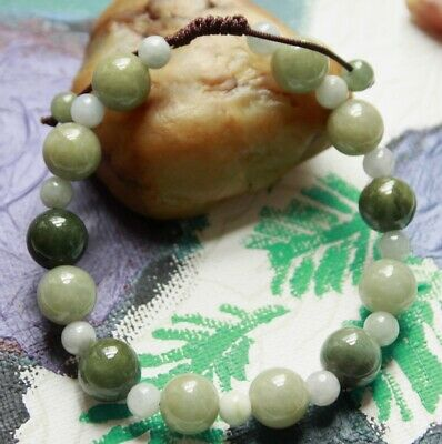 Genuine Natural Jadeite (Grade A) Fine Untreated Chinese JADE Bracelet #J0192