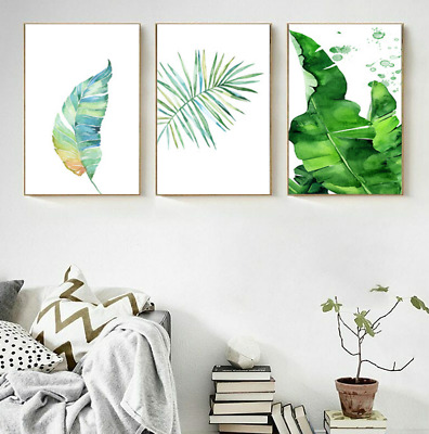 Nordic Style Flower Green Plant Leaf Art Poster Home Decor Wall Hanging Painting