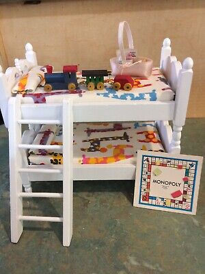 Miniature 1:12 Doll House Double Bunk Bed & Toy Train Etc