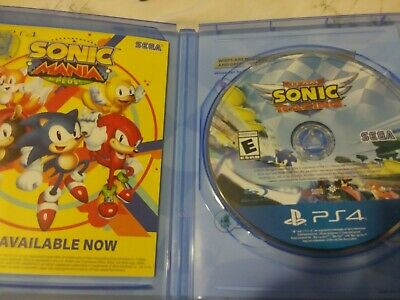 TEAM SONIC RACING PS4 Game Brand New & Sealed In Stock