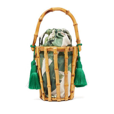 Summer Bamboo Beach Natural Handbag Womens Tote Basket Large Tote Beach
