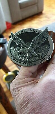 Aradon Fine Pewter Wedge Tailed Eagle Belt And Buckle - Aust. Made