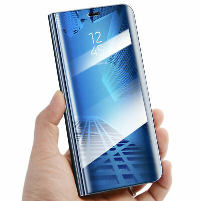 360° Mirror Clear View Flip Stand Phone Case Cover For Huawei P20 Lite