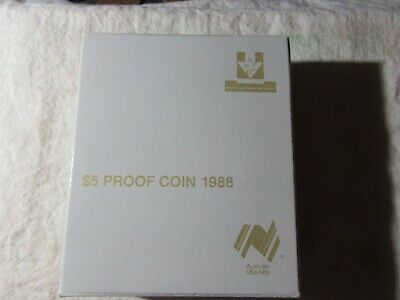 1988  Proof  $5  Coin     Boxed