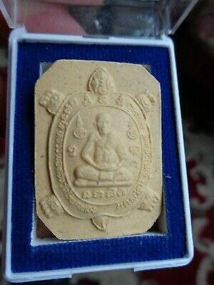 Thai Cased Turtle Buddha  Amulet  Charm Original Temple Case