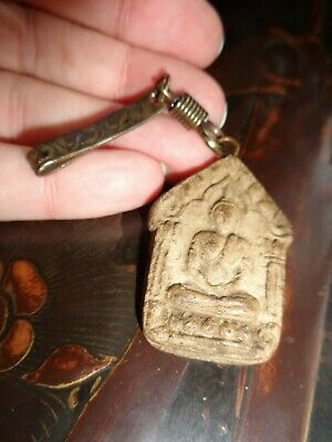 Antique  Thai  Khunpaen  Buddha  Amulet  Charm Pendant & Wealth Fish Charm