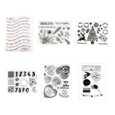 DIY Crafts Clear Scrapbooking Merry Christmas Transparent Stamp Silicone Rubber