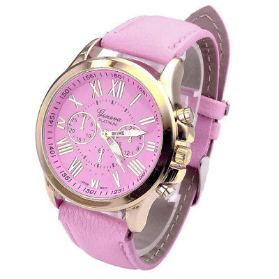 Casual Roman Numeral Watches For Women MenPU Leathers Bands Quartz Wrist Watches