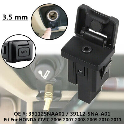 Standard 3.5mm Aux Jack Audio Interface Port fit for Honda Civic 39112-SNA-A01