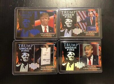 Donald Trump Under Fire Trading Cards Decision 2016 Card Lot President Blue Htf