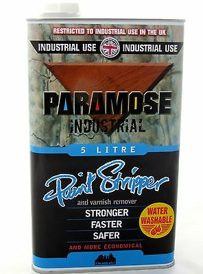 Paramose Paint Stripper Thick 5 Litre Industrial Use : Please Read Details Below