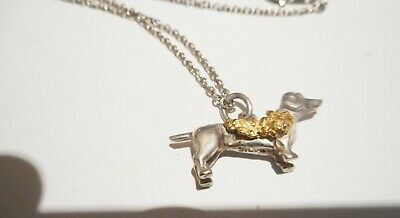 Genuine Australian Gold Nugget On A Sterling Silver Charm & Ss Necklace No 18